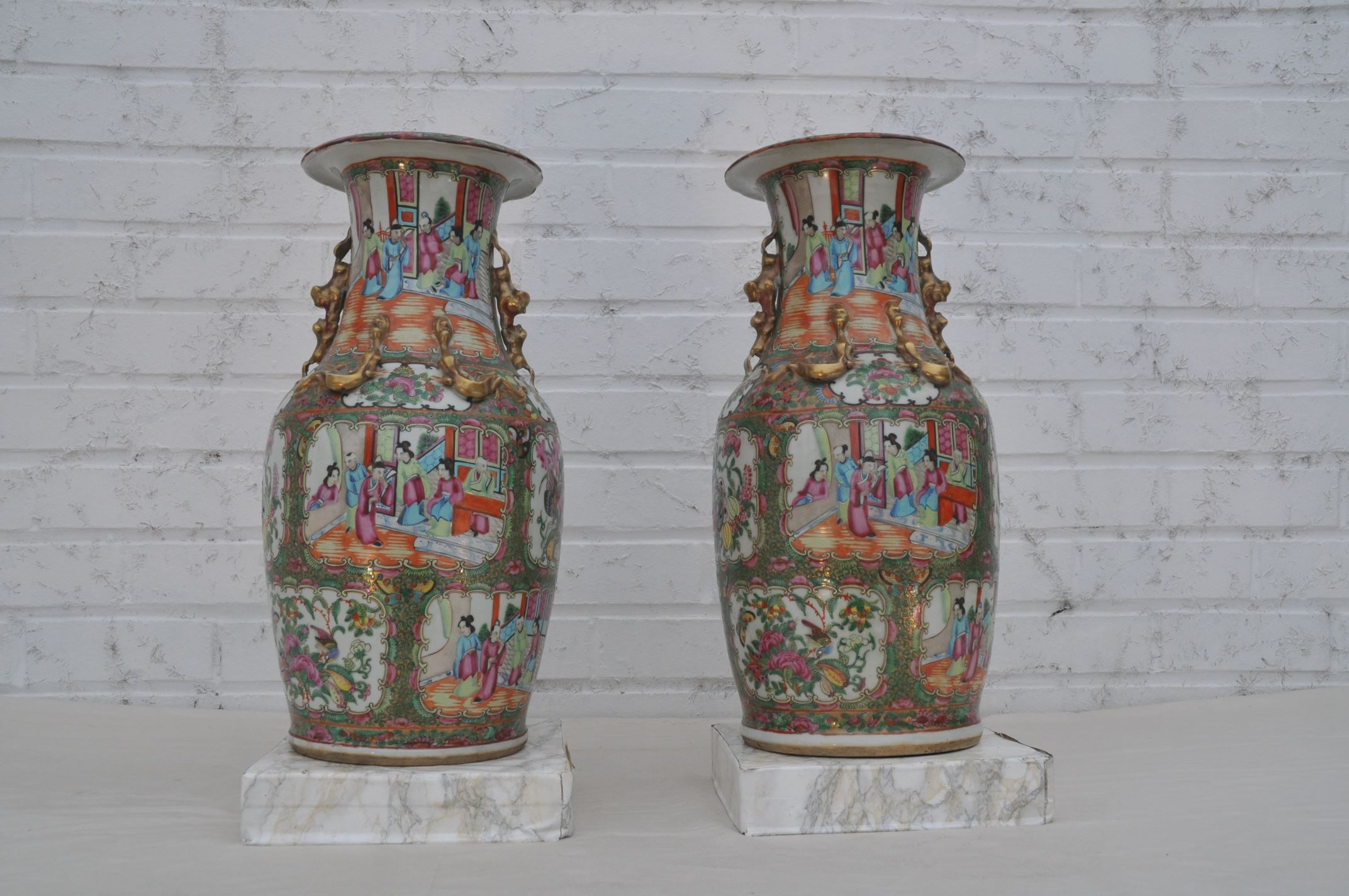 Pair of chinese canton famille rose vases philip van collem pair of chinese canton famille rose vases reviewsmspy